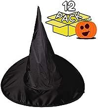 Windy City Novelties Halloween Black Witch Hat - 12 Pack