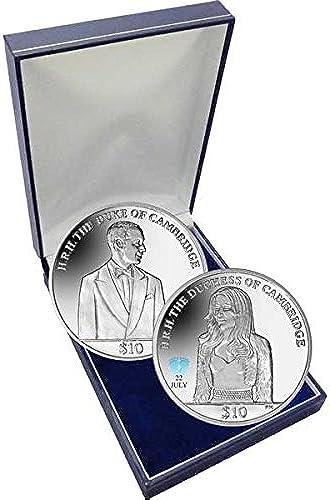 The 2013 Royal Baby Duke of Cambridge .925 Silver with Colour Privy Mark Coin Set