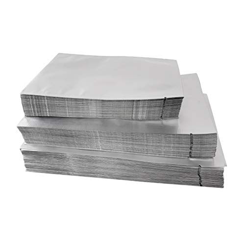 UPKOCH 100 stücke Wiederverwendbare Lebensmittelversiegelte Aufbewahrungsbeutel Aluminiumfolie Aufstehen Tee Süßigkeiten Nüsse Kekse Taschen 9x13 cm