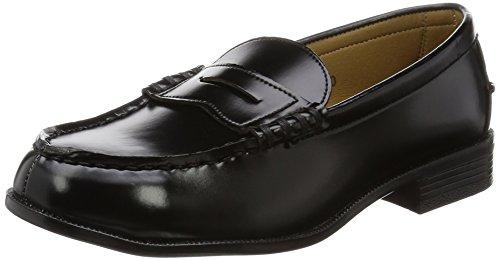 [アサヒ] ローファー 通学靴 合皮 LA8607 レディース ブラック 26.5 cm 3E