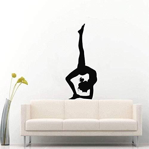 Pegatinas de pared pegatinas de arte y pegatinas murales carteles de arte yoga fitness gym girls dormitorio deportes pegatinas de uñas cartel 42X100Cm