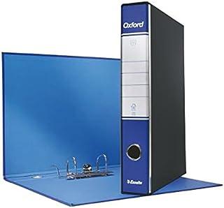 Esselte 390782050, Classeur Oxford, Format Commercial, Carton, dos 5cm Pour Classeur, Boîte de 8PZ, Bleu