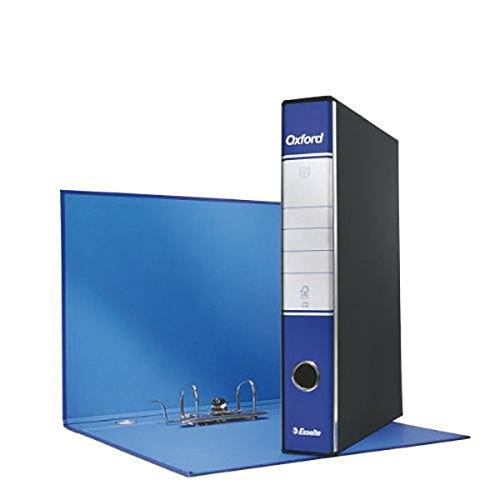 ESSELTE G82 OXFORD Registratore - f.to commerciale dorso 5 cm - Blu - Confezione da 8 pezzi - 390782050