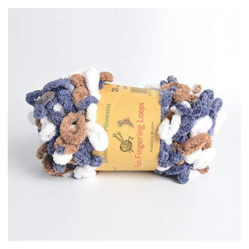 SZTUCCE Hinchado Fino Color Chunky Chenille Hilado 5x100gr Dedo Bucle Crochet Tejer Manta Bolsa de Almohada Bufanda Ombre Batik Suave cómodo (Color : N29)