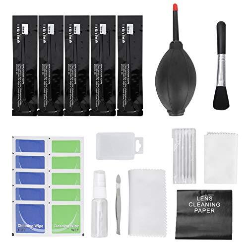Kit de limpieza de cámara Herramientas profesionales de limpieza de polvo Paño de limpieza de fibra ultrafina 12 piezas Solución de limpieza de cámara, para cámaras digitales, para