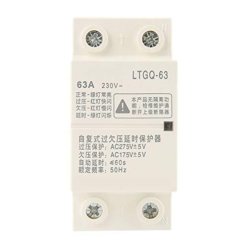 Relé de protección de 230 V, reconexión automática ajustable Sobre voltaje y protección de bajo voltaje