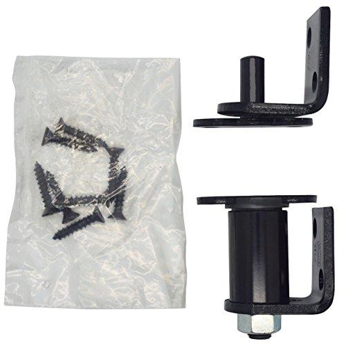 Bommer 7512 Gloss Black Gravity Pivot Hinge -Hold Open- for Louver / Swing / Swinging / Cafe Doors (Bright Black)