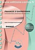 Finance d'entreprise - Unité d'enseignement 6 du DCG. Cas pratiques