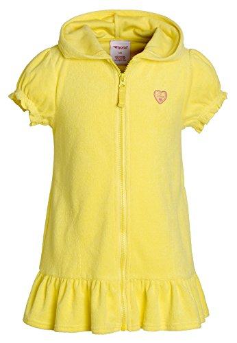 Cobertores de playa para niñas, traje de baño de algodón con capucha de rizo, Lemon, 4