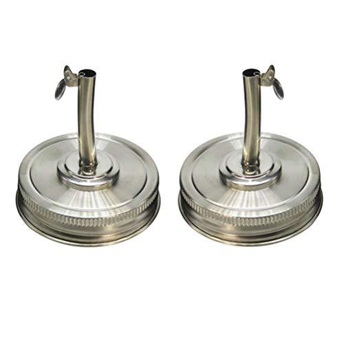 TOPBATHY Tapa de infusiones de Aceite Ponga el dispensador del caño de vertido con Tapas para el Tarro de masón 2pcs