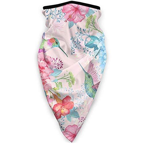 AEMAPE Pañuelos de colibrí con Flores Tropicales, Bufanda para la Cara, Polaina para el Cuello, Bufanda para la Cara, Diadema, Bufanda para el Polvo para Hombres y Mujeres, Deporte al Aire Libre
