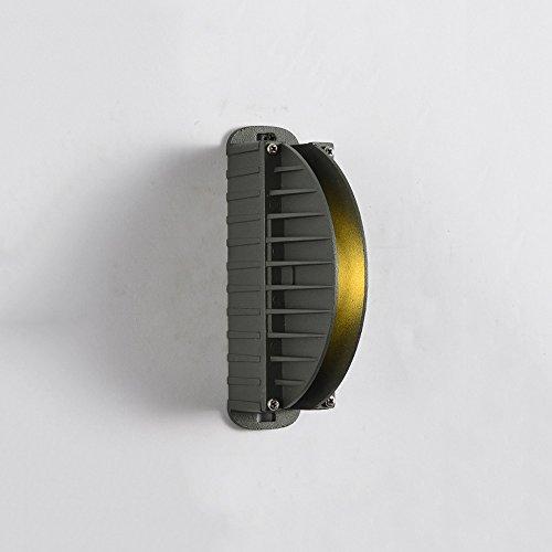 ZHANGYN Candelabros de pared Sencillo llevado moderna lámpara de pared de aluminio hotel Corredor Reunidos curvado decorativo de pared de luz (Color : D)