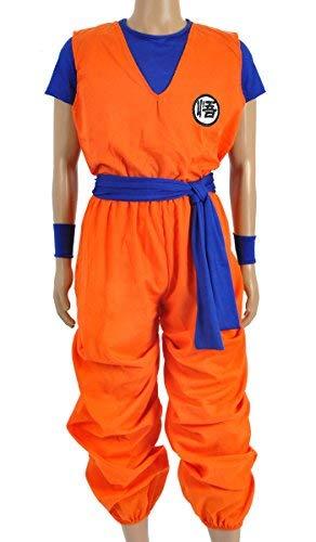 CoolChange Costume Cosplay de Son Goku en 3 Parties, Taille : S
