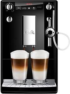 Melitta Bean to Cup Coffee Machine, SOLO & Perfect Milk Model E957-101, Automatic Cappuccino Maker, Black/Silver