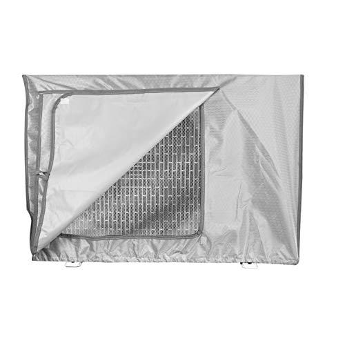 Copertura Condizionatore Esterno,Coperchio del climatizzatore per esterni Anti-Polvere Anti-Neve Impermeabile Protector Climatizzatore (Silver,86x33x56cm)