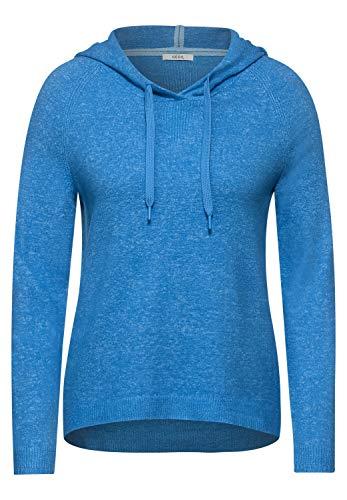 Cecil Damen Cosy Hoodie-Pullover Bright Blue M