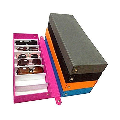 strimusimak strimusimak 8 Grid Sunglass Aufbewahrungskoffer Gläser Display Glasswear Box Mehrzweckwerkzeug (Black)
