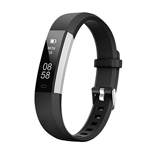 LETSCOM Fitness Tracker with Heart Rate Monitor, Slim Sports Activity Tracker Watch, Waterproof Pedometer Watch with Sleep Monitor, Step Tracker for Women and Men