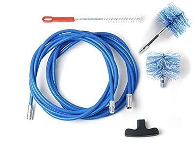 BARETTO - Kit 6 Metros - 2 Cepillos 80mm (Pellet y FLEX) - Kit Limpieza de Estufas de Pellets