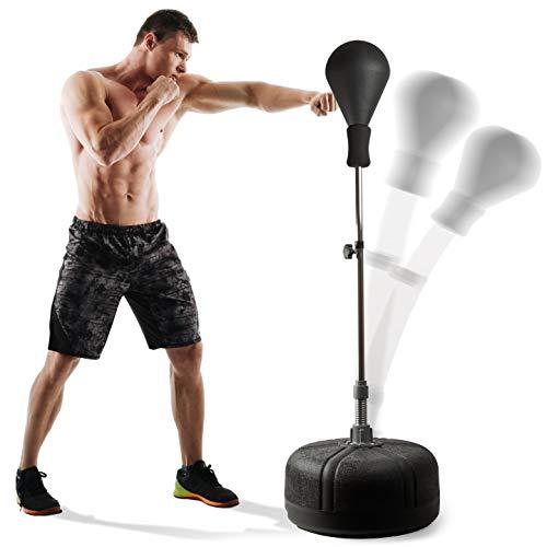 POWRX Punchingball I Standbox Trainer höhenverstellbar I Standboxball Profi verstellbar 110-150 cm I Box Ständer Standboxtrainer für Boxing Workout