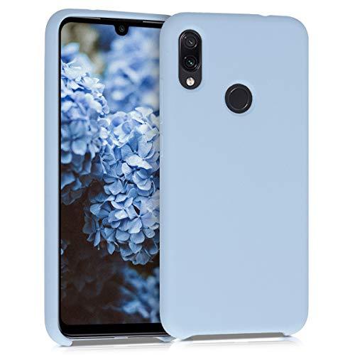 kwmobile Funda Compatible con Xiaomi Redmi Note 7 / Note 7 Pro - Carcasa de TPU para móvil - Cover Trasero en Azul Claro Mate