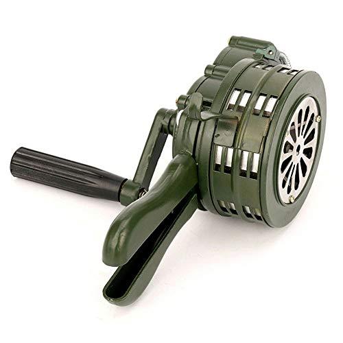 Gelentea Handkurbel-Sirene, 110 dB, manuelle Bedienung, Metallalarm, Luftfall, Notfall Sicherheitsalarm