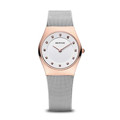 BERING Time | Women's Slim Watch 11927-064 | 27MM Case | Classic Collection | Stainless Steel Strap | Scratch-Resistant Sapphire Crystal | Minimalistic - Designed in Denmark
