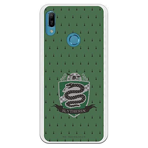 Funda para Huawei Y6 2019 Oficial de Harry Potter Slytherin Escudo para Proteger tu móvil. Carcasa para Huawei de Silicona Flexible con Licencia Oficial de Harry Potter.