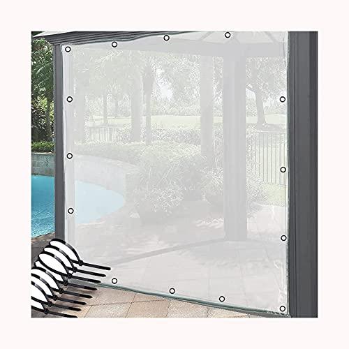 GDMING Transparente Tarea Pesada Lonas, PVC Hoja De Lonas, Impermeable Cortina Al Aire Libre con Ojales, Resistente Al Clima Jardín Invernadero Cubrir (Color : Claro, Size : 2.4x6m)