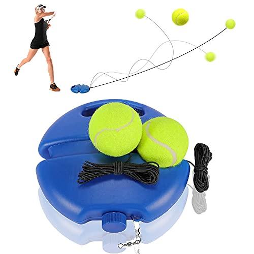 Tennis Trainer, Tennis Trainer Rebound Ball, Solo Tennis Übungsausrüstung zum Selbststudium, Tennis Trainer Set, Trainer Baseboard mit Seil und 2 Rebound Ball, für Anfänger Kinder Erwachsene, tennis