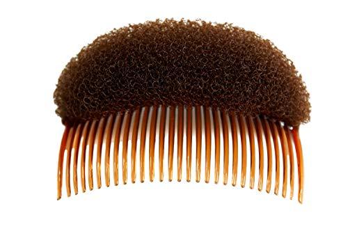 WIG ME UP - RH-047-brown Dutt Kissen mit Kamm Steckkamm Steckkissen für Dutt Haardutt Volumen Toupiert Duttpolster braun 10 x 5 cm