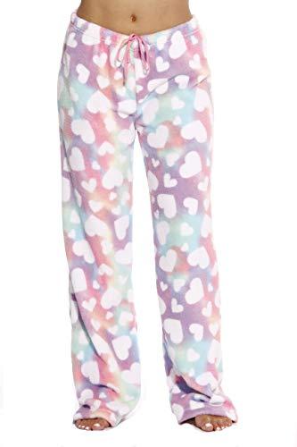 6339-10171-L Just Love Women's Plush Pajama Pants - Petite to Plus Size Pajamas,Rainbow Hearts,Large