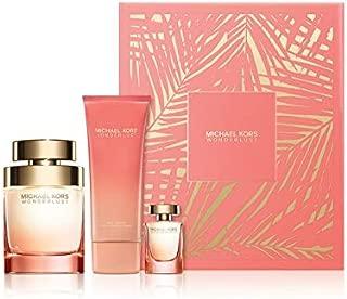 Michael Kors Wonderlust Gift Set for Women (Eau de Parfum Spray, Eau de Parfum Mini, Body Lotion)