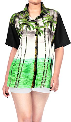 HAPPY BAY Women's Hawaiian Shirt Beach Aloha Swim Shirt for Women 3D Printed