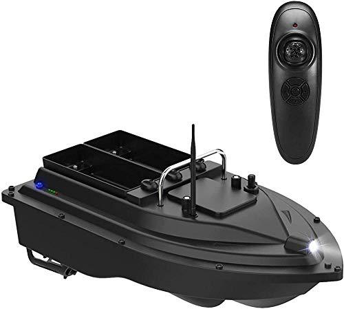 Barco Cebador Pesca Barco Teledirigido de Pesca con Función de Iluminación Nocturna 2Kg de Carga Asistida Pesca Herramienta Hélice Doble Motor Doble 5200Mah Batería