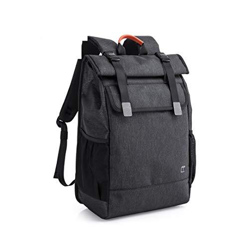 ORKNEY Mochila para Portátil Impermeable 17 Pulgadas, Mochila Casual Mujer Hombre Viaje Roll Top Bag Laptop Carga USB