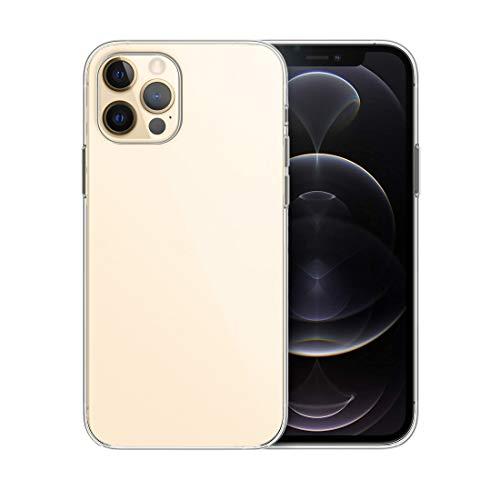 doupi PerfectFit - Custodia protettiva per iPhone 6,7 pollici (Gen 12 Pro Max 2020), ultra sottile, in silicone trasparente, superficie liscia, resistente agli urti, trasparente
