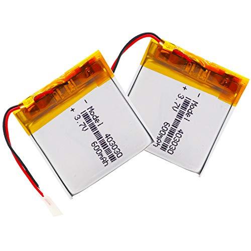 RFGTYH 3,7 V 600 mAh 403030 batería Recargable de polímero de Litio Li-Po li...