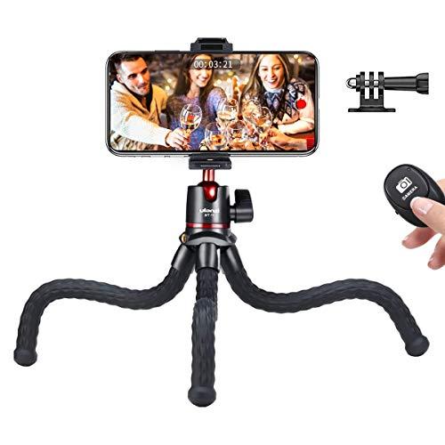 Ulanzi くねくね三脚 スマホ 三脚 カメラ 自由雲台 自撮り ミニ三脚 Bluetooth リモコン付き iPhone/Android/GoPro/一眼レフ/デジカメ/ビデオ カメラ/プロジェクターに対応