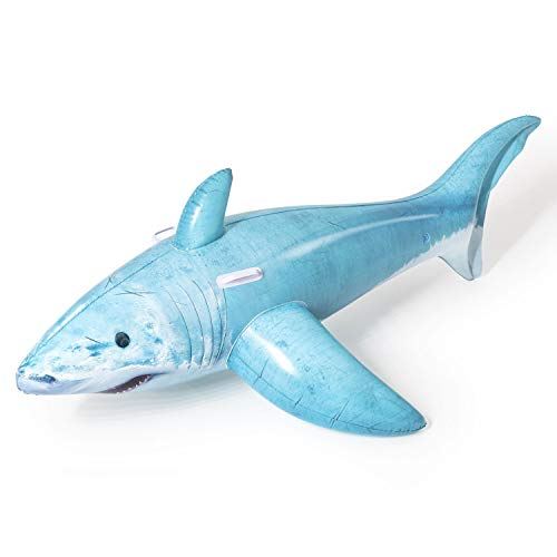 Bestway 41405 1.83m x 1.02m Realistic Shark Ride-On, Color