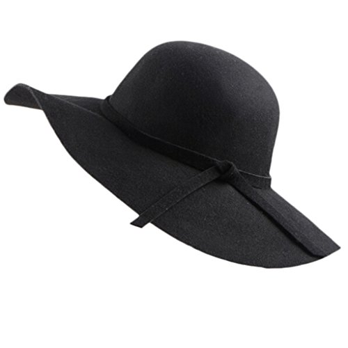 Sombrero de ala ancha, de Chendongdong. De felpa, estilo vintage. Tipo pamela