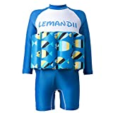 Abaodam Schwimmender einteiliger Badeanzug für Babys, Jungen, Badeanzüge mit Sonnenschutz, Badebekleidung (geeignet für Körpergröße 90–100 cm, blau)
