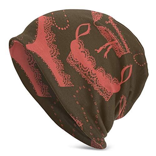 Pizeok Ropa Interior Dibujada a Mano Sombrero de Punto para Hombres Adultos - Gorro Diario deliciosamente Suave en Punto Fino, Gorra, pasamont