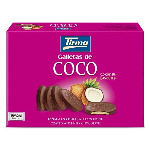 Galletas con Coco bañadas en Chocolate con Leche (6 x 33g)