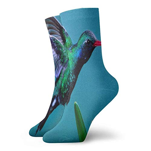 Be-ryl Crew Socks Hummingbirds Magic in The Air Athletic Socks Custom Personalized Short Stocking