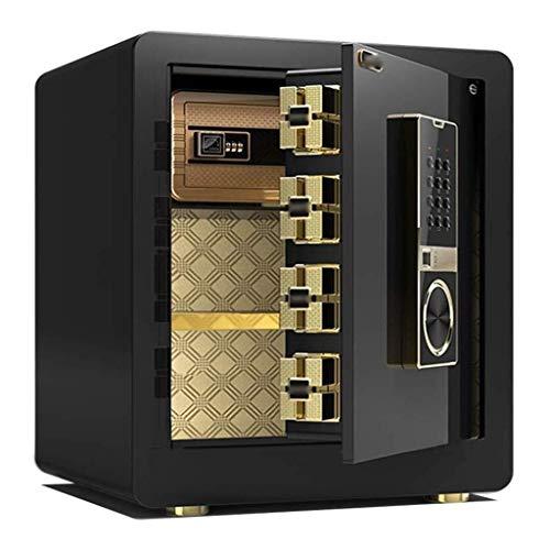 LiupenGWEI Mini-meubelkluis, klein, onzichtbaar, 45 cm, compleet staal, diefstalbeveiliging, voor vingerafdrukken, nachtkastje, sieraden, wandkast, kantoor, intelligent, WLAN, Safe Jazz Black