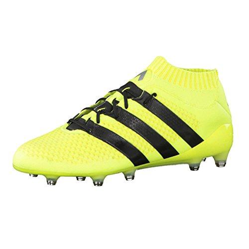 adidas Ace 16.1 Primeknit FG, Botas de fútbol para Hombre, Amarillo (Amasol/Negbas/Plamet), 44 EU