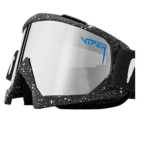 Pit Viper - Gafas de sol polarizadas deportivas para hombres y mujeres, Pit Viper al aire libre, resistentes al viento, lentes de espejo UV