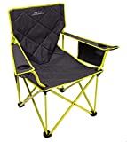 ALPS Mountaineering King Kong Chair, Charcoal/Citrus (Renewed)