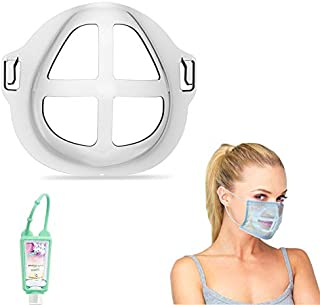 Face Bracket for Mask-5Packs, Protect Lipstick Support Holder For Comfortable Mask Breathing Smoothly and 1PCS Hand Sanitizer bottle(5PCS)